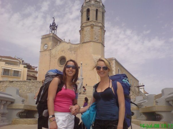 Backpacking and inter-railing around Europe in Sitges