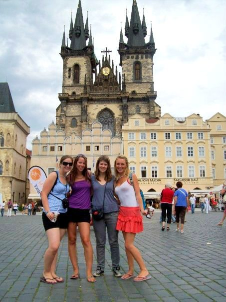 backpacking in historic Prague