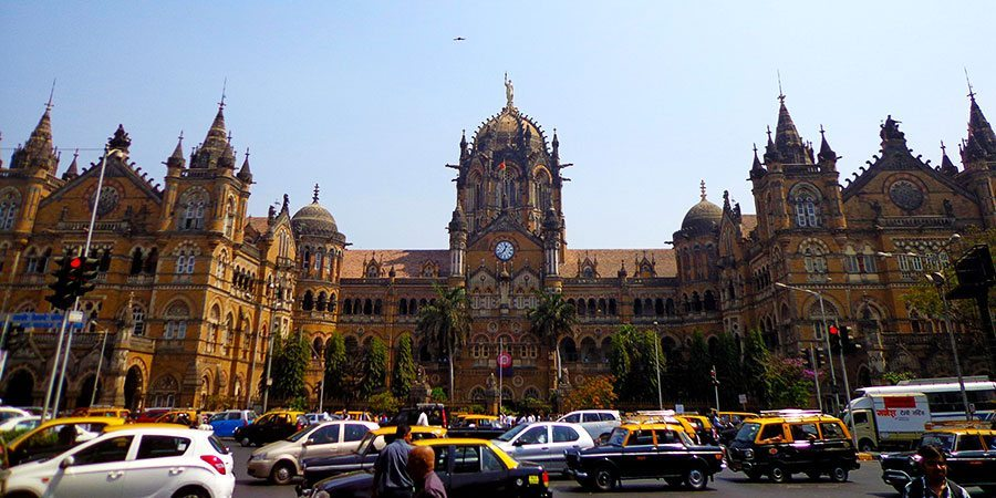 Mumbai's main train station - the Unesco listed Chhatrapati Shivaji Terminus or CST