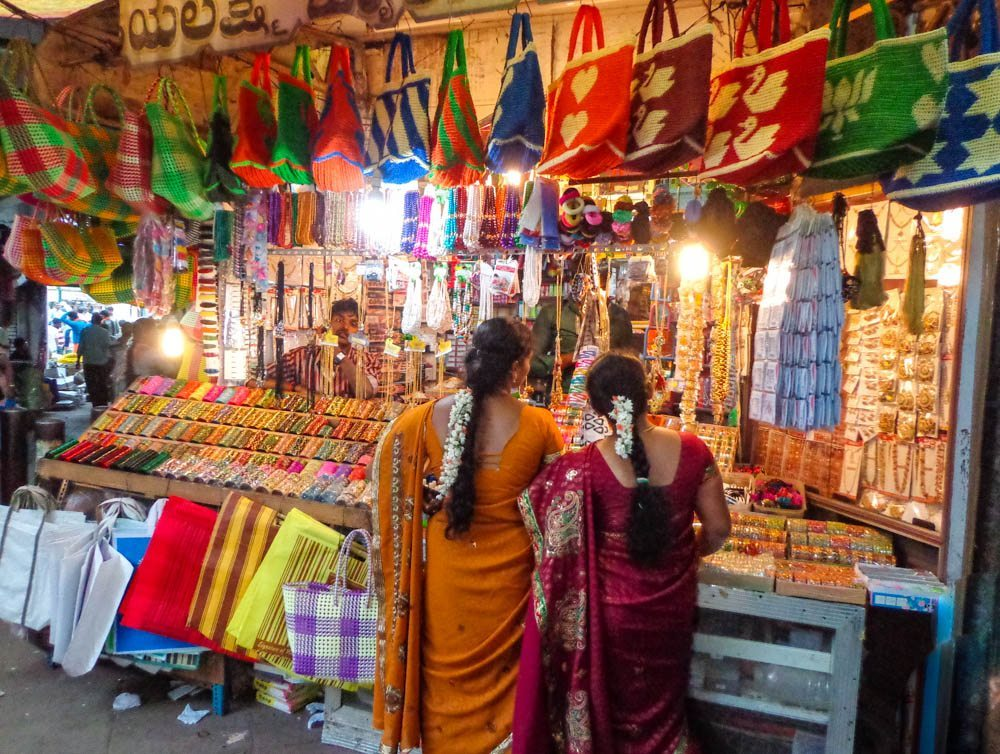 mysore market ladies shopping