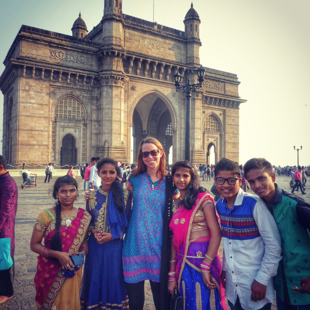 Making new friends in Mumbai, India