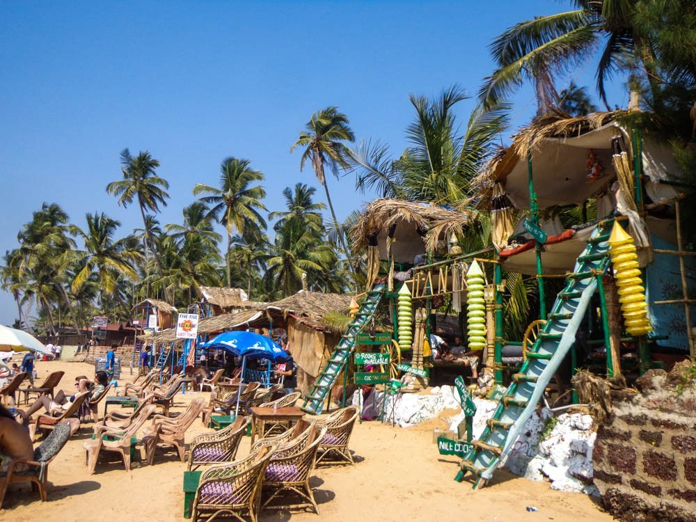 Beach shacks in Goa