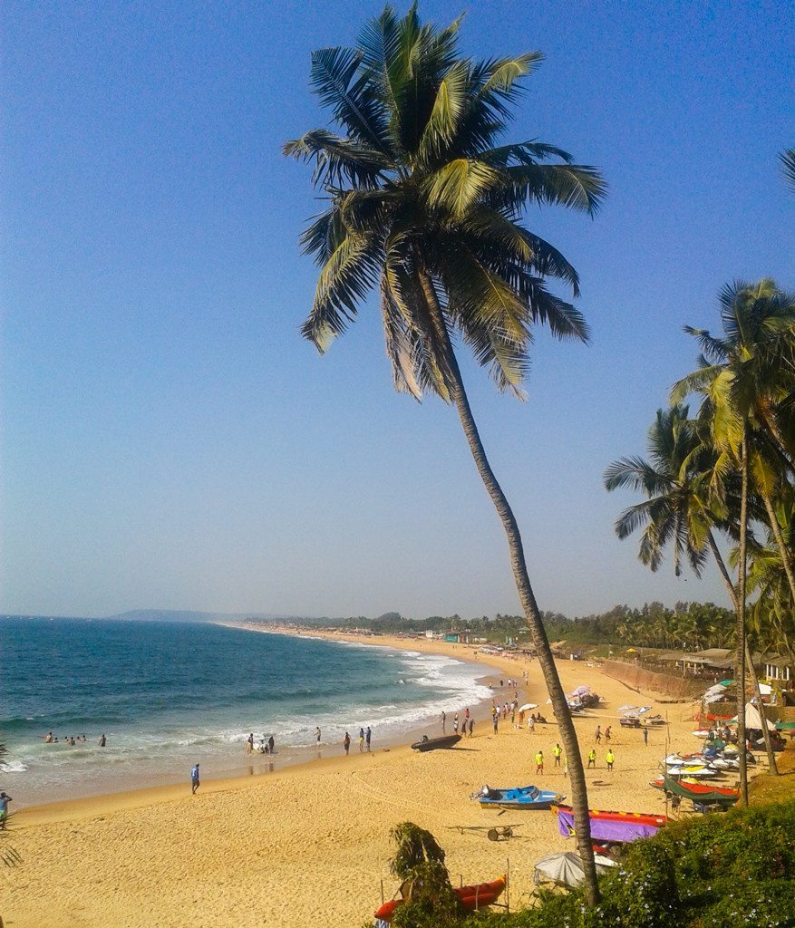The more upmarket Candolim Beach