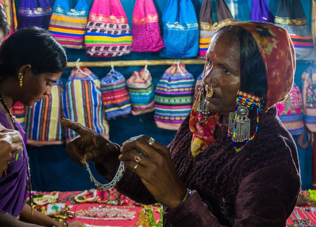 Haggling at the Anjuna Flea Market