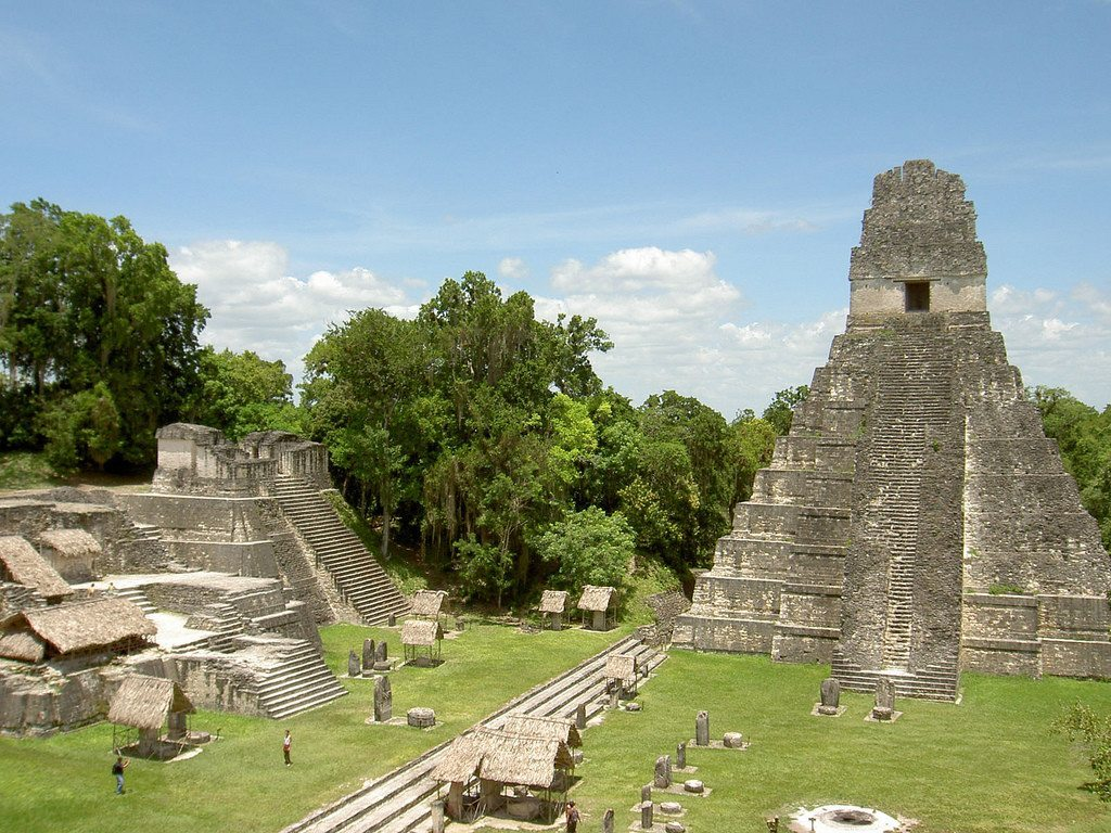 The Mayan ruins of Tikal in the jungles of Guatemala