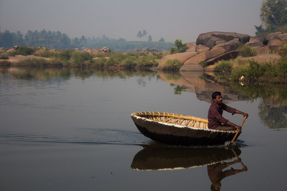 hampi coracle boat