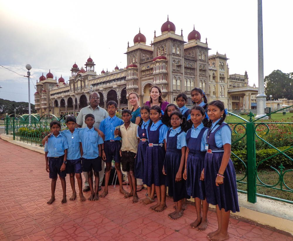 mysore palace school kids