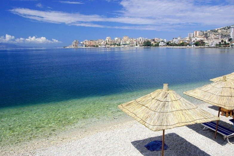 Saranda Beach in Albania