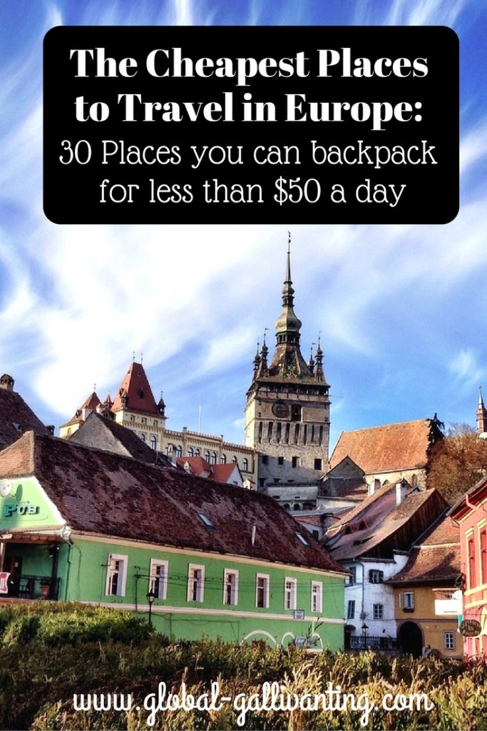 Cheapest to travel europe for Cheap place to go for vacation