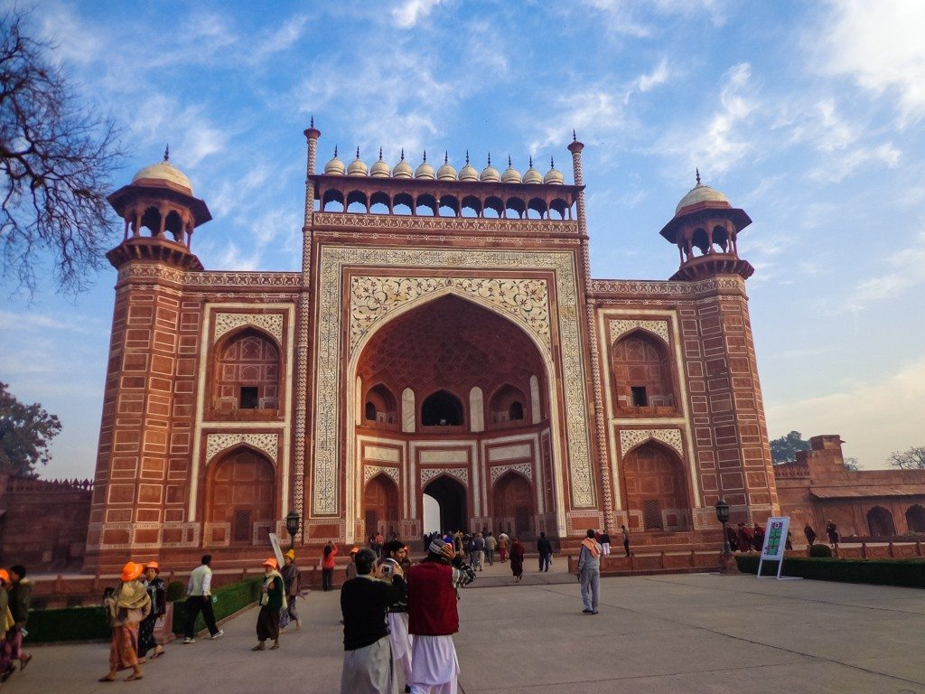The gateway to the Taj Mahal