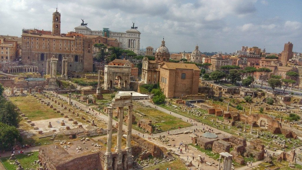 Views over the Roman Forum from Palantine Hill