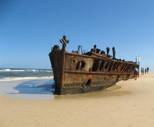 Shipwreak on Fraser Island