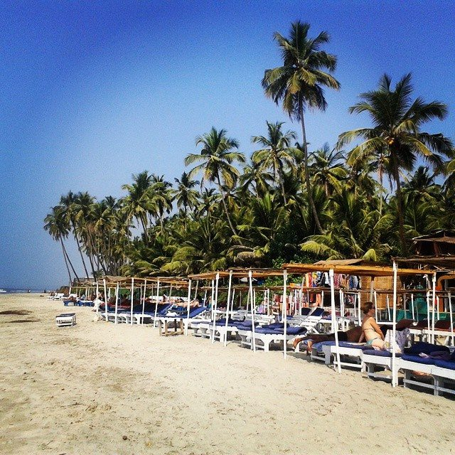 Beaches in Goa are perfect for backpackers