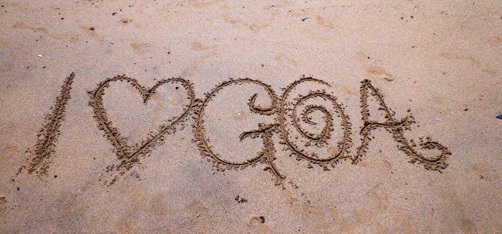 i love goa sand