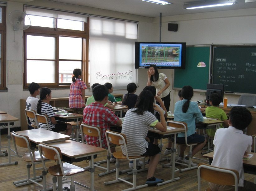 Lianne teaching English in South Korea
