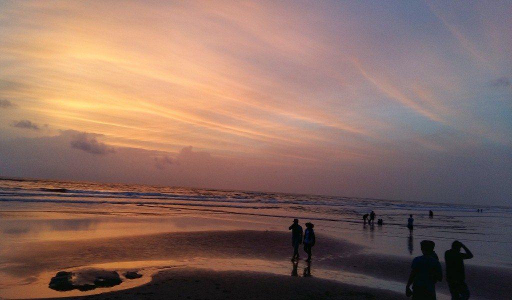 Sunset over Vagator Beach in Goa
