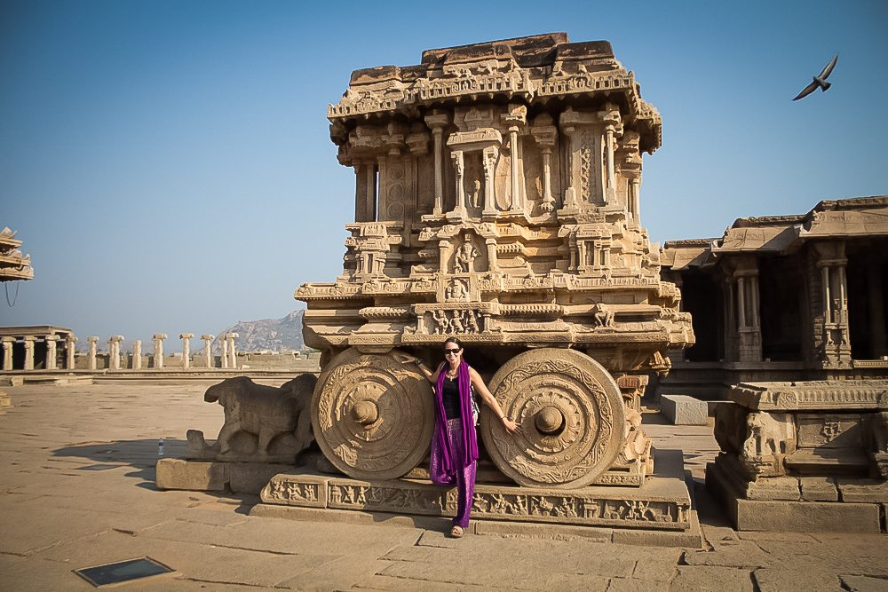 Anna with Stone Chariot in Hampi
