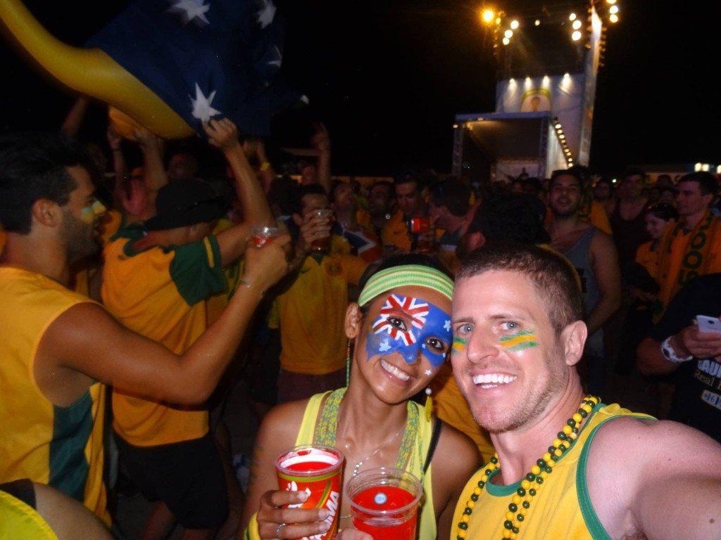 Cheering for the Socceroos, World Cup, Rio de Janeiro, Brazil
