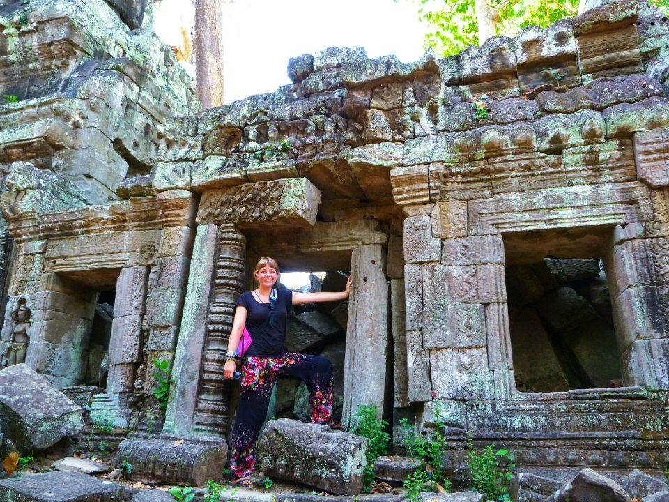 Exploring the ruins of Cambodia