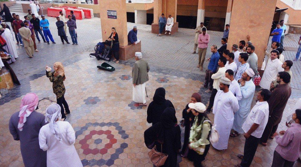 Busking in Oman
