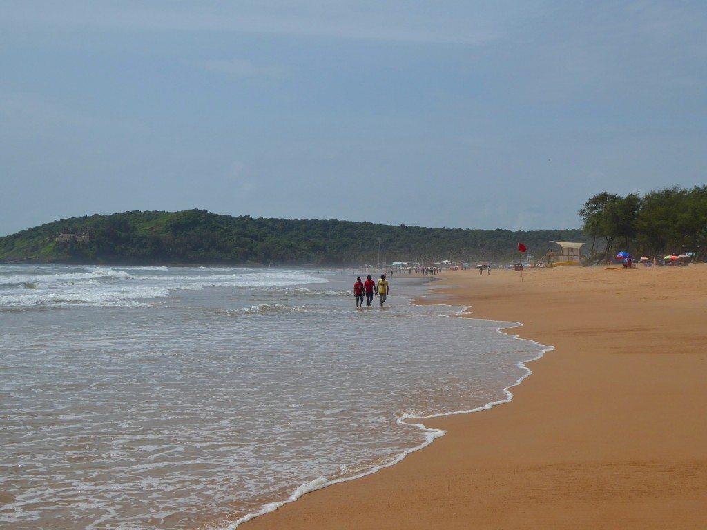 Calangute Beach during a sunny spell in monsoon season
