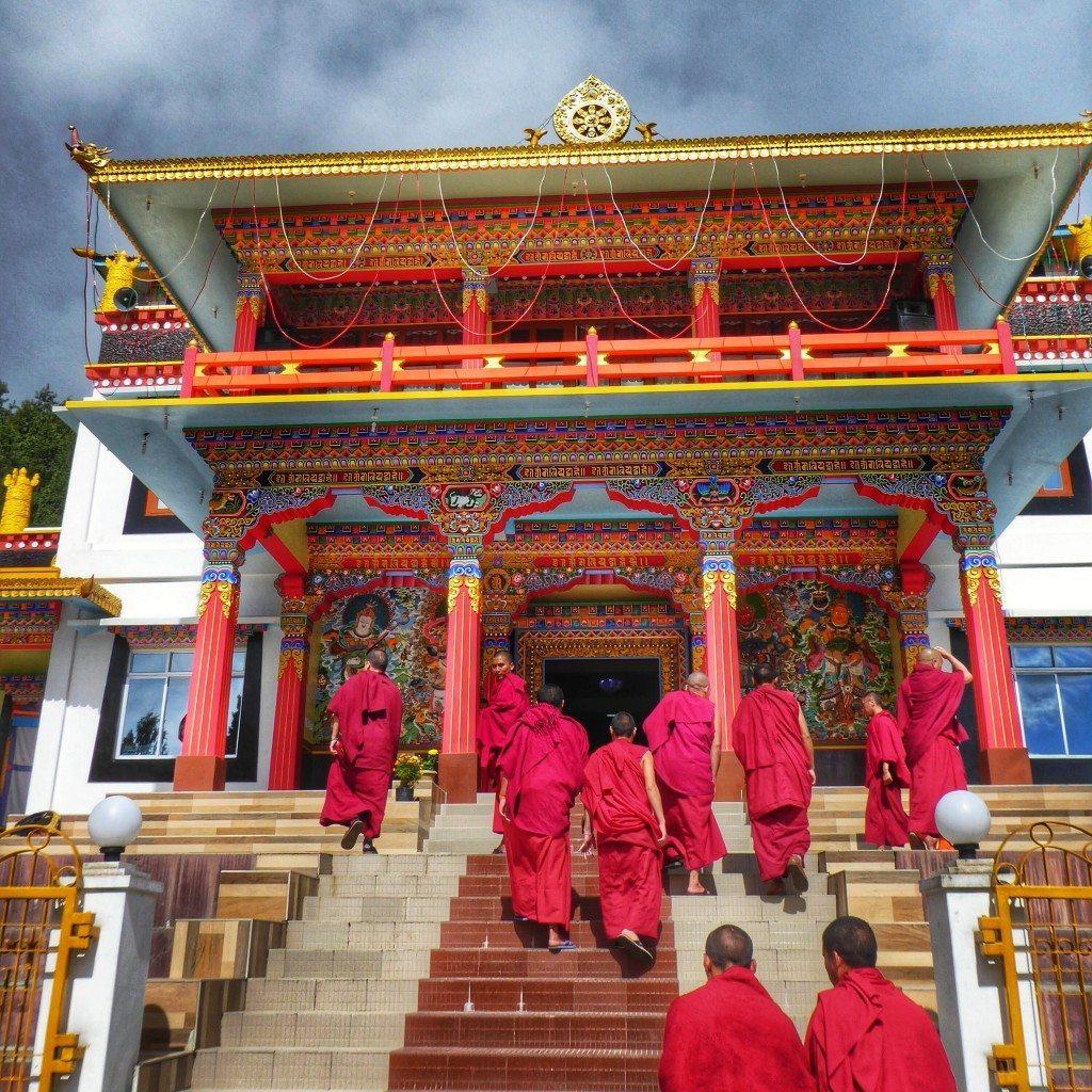 Gontse Gaden Rabgyel Lling Monastery or GRL monastery in bomdila, arunachal pradesh.
