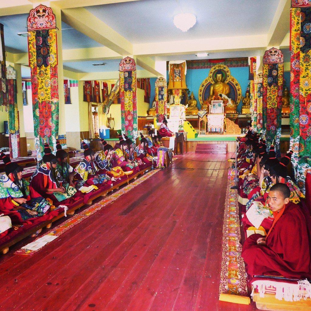 inside the Tibetan monastery in bomdila arunachal pradesh