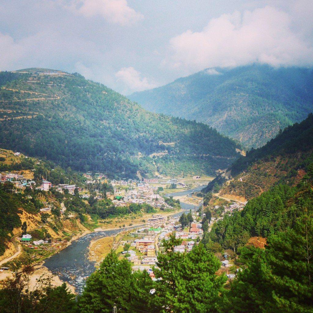 View over Dirang in Arunachal Pradesh