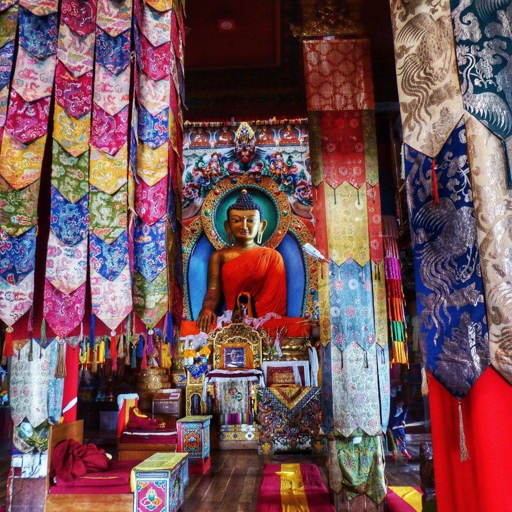 Inside Tawang monastery, Arunachal Pradesh, India