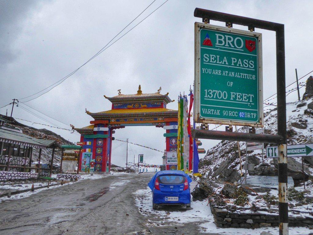 Snow on the Sela Pass in Arunachal Pradesh