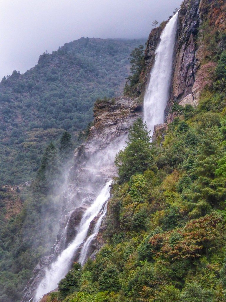 Nuranang Waterfall in Tawang, Arunachal Pradesh