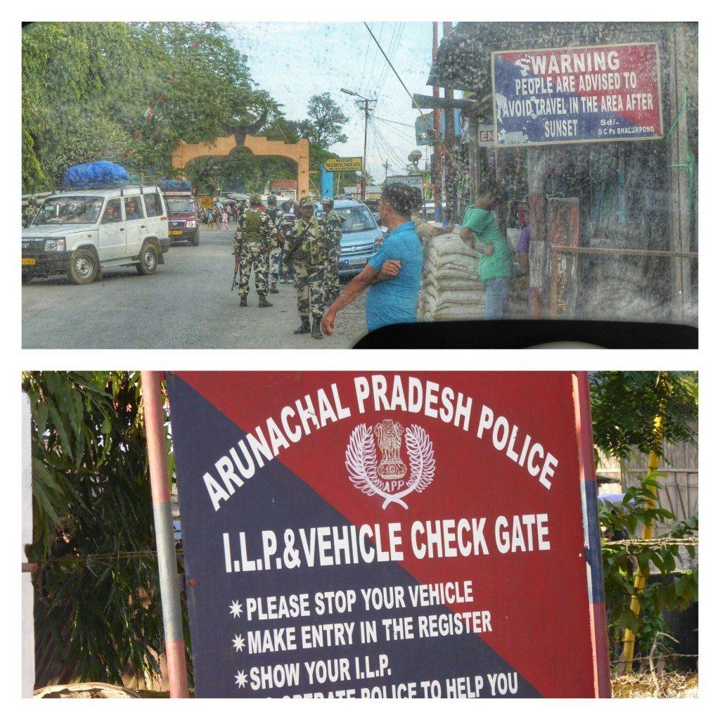 Border checkpoint for Arunachal Pradesh