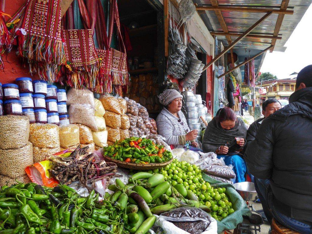 local market in Bomdila
