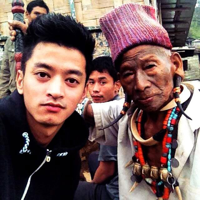 Sange Tsering our Holiday Scout guide with headhunter tribes in Nagaland!