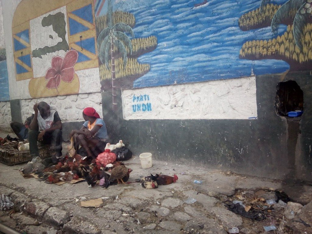 Typical street scene Port-au Prince