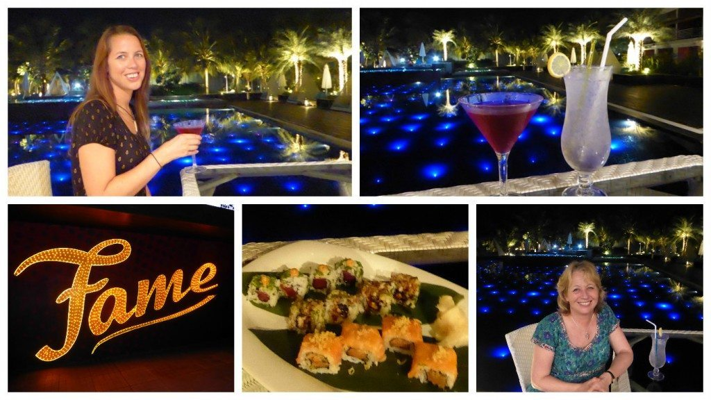 Dinner at the Fame restaurant at Planet Hollywood Resort Goa