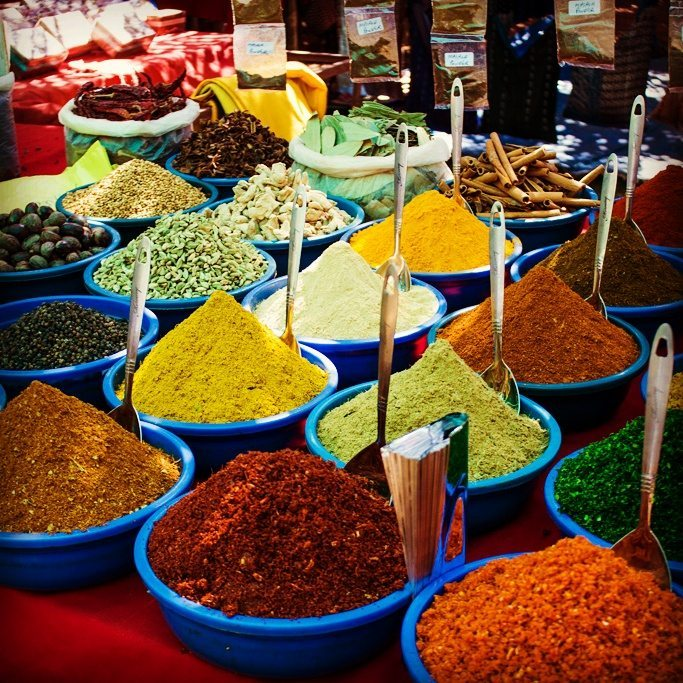 spices for sale in Goa's markets