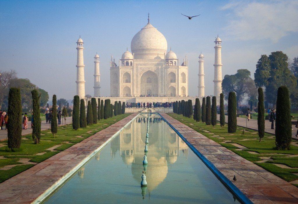 The Taj Mahal, in Agra, Uttar Pradesh
