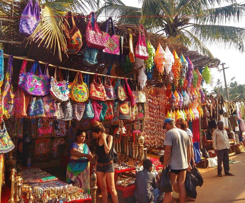 Anjuna flea market, Goa, India