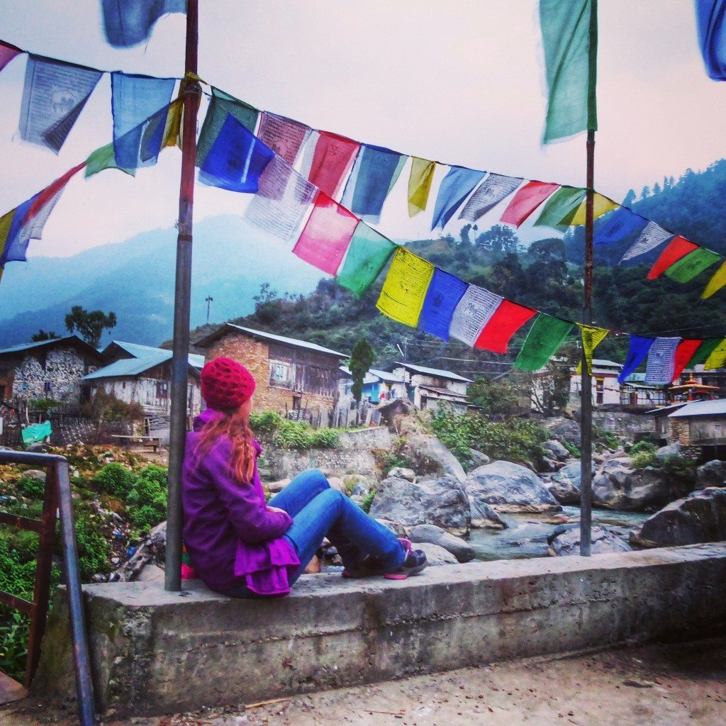 tibetan flags in Arunachal Pradesh, North East India