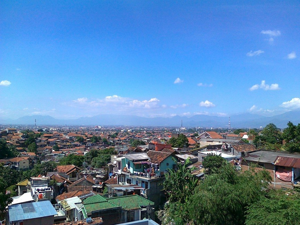The Bandung skyline