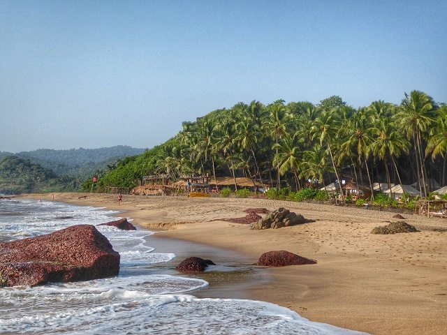Blissfully quiet and clean Cola Beach in South Goa