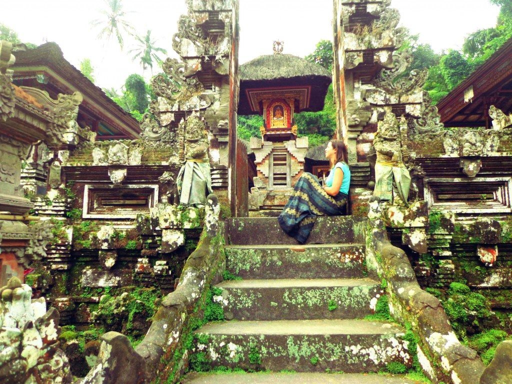 At a temple in Ubud, Bali