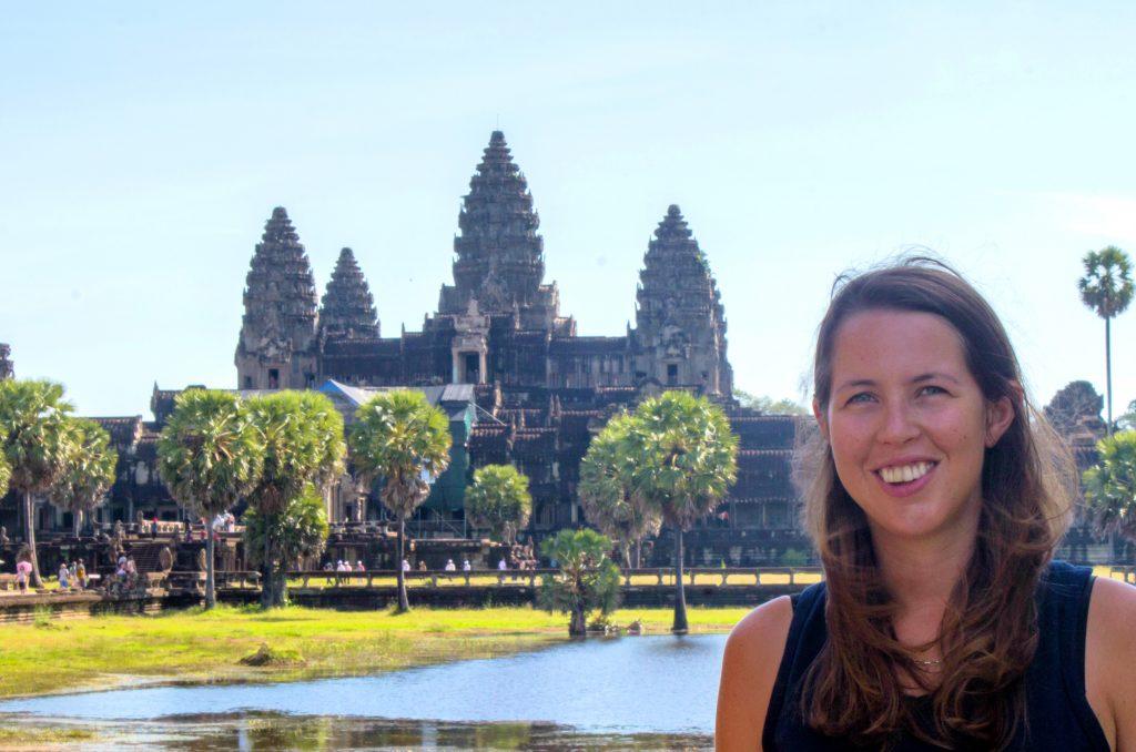 Anna at Angkor Wat, Cambodia