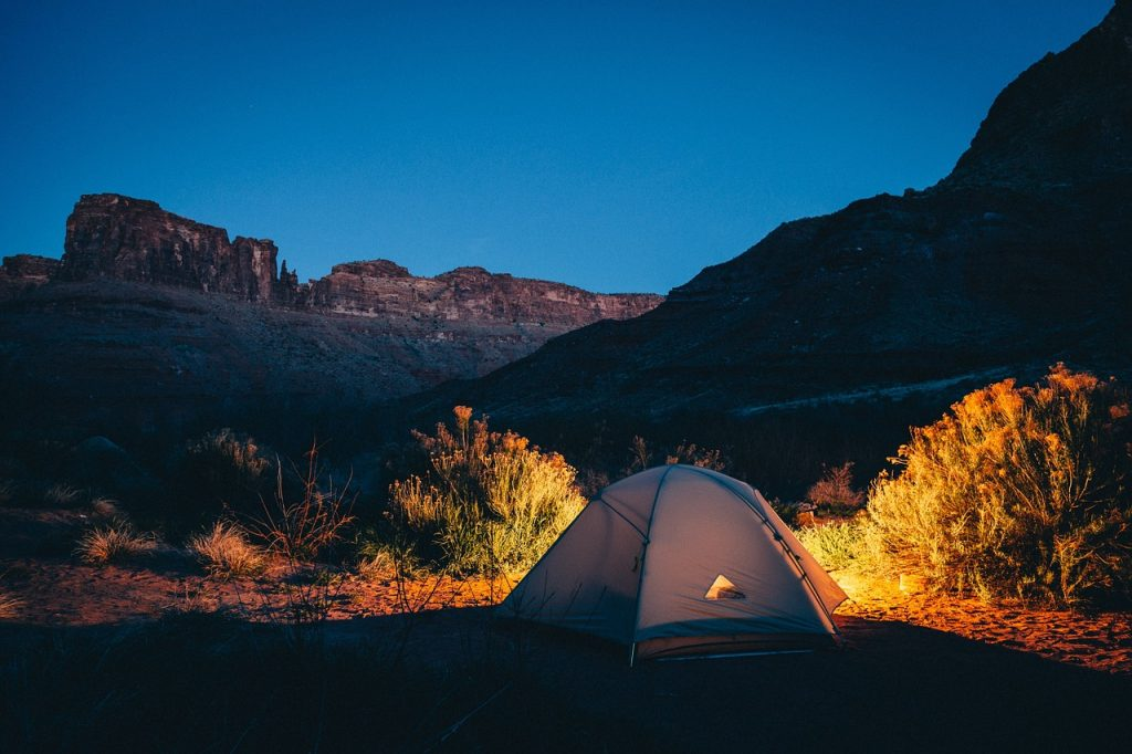 Camping while traveling saves alot of money and can often be free