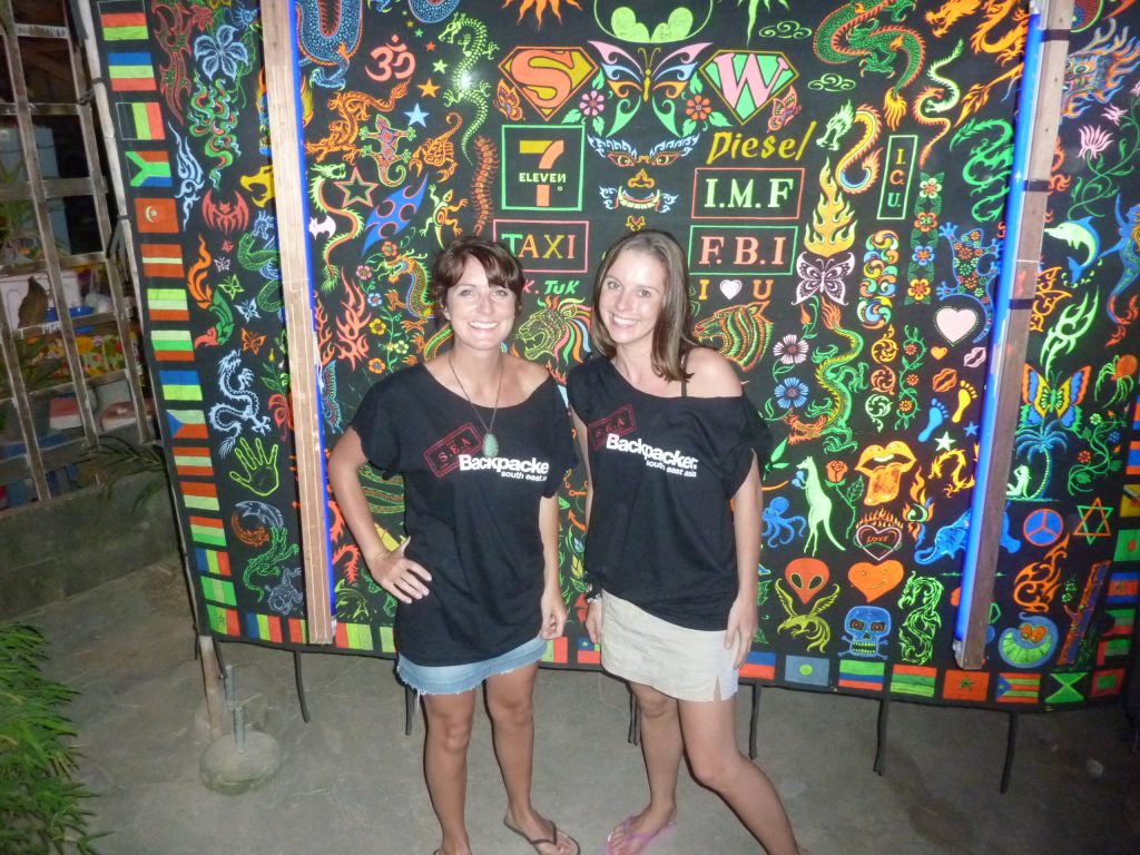 A friend and I at the Full Moon Party Thailand