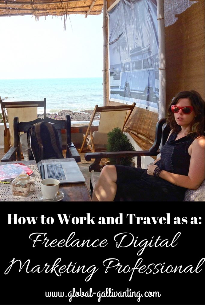 Ditch the 9 - 5 and take your work on the road with you! Find out how to travel and work anywhere in the world as a Freelance Digital Marketing Consultant #DigitalNomad #WorkingAbroad