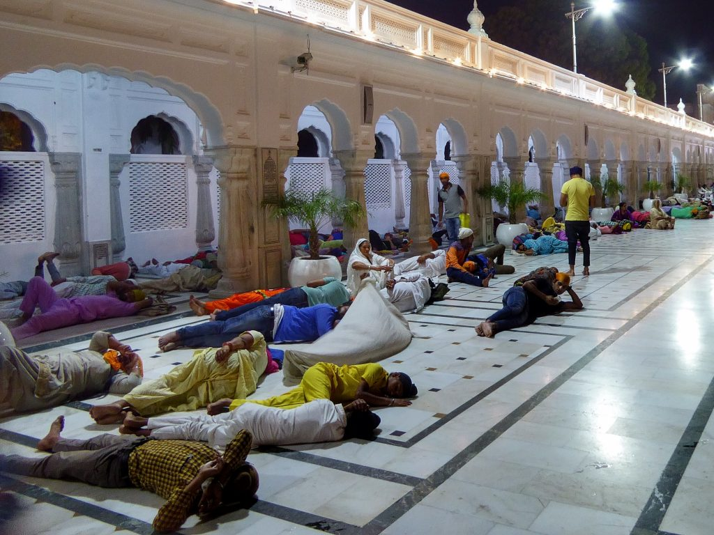 sleeping at the golden temple