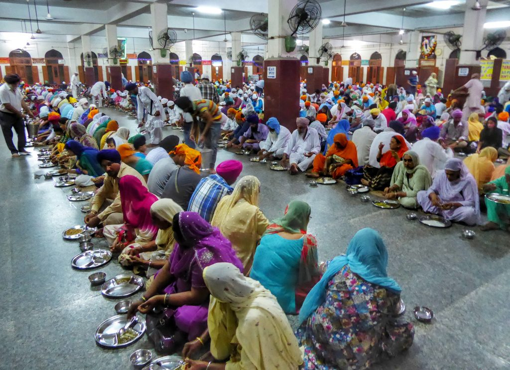 dinning hall (langar) at the golden temple