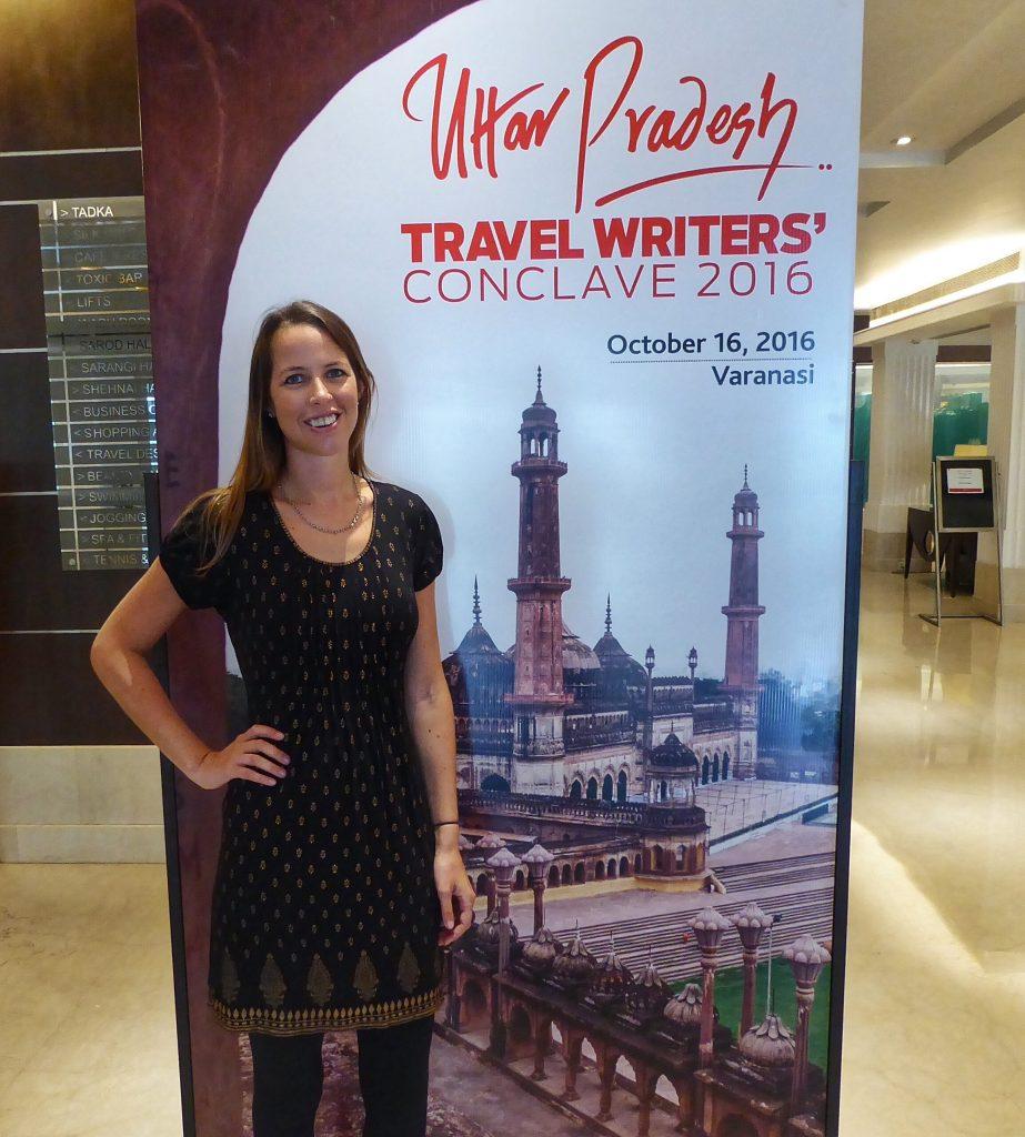 At the Uttar Pradesh Travel Writes' Conclave 2016 in Varanasi